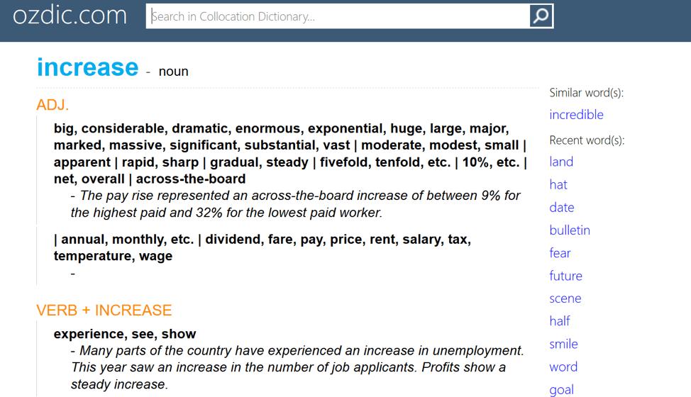từ điển Collocations