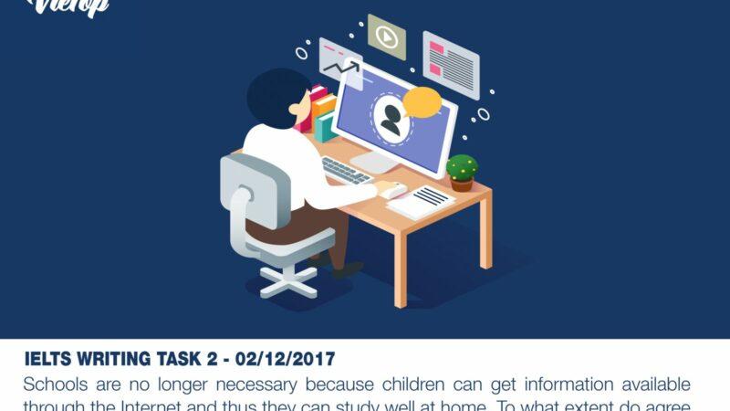 BÀI MẪU IELTS WRITING TASK 2 NGÀY 02/12/2017