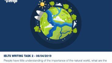 Samle Essay đề thi IELTS Writing Task 2 ngày 06/04/2019