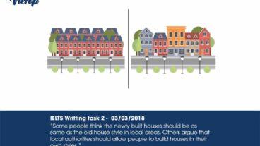 Đề thi IELTS Wring Task 2 Sample Essay ngày 03/03/2018