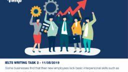 Samle Essay đề thi IELTS Writing Task 2 ngày 11/05/2019