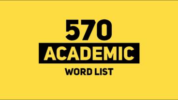 570 từ vựng Academic (Academic Word list)