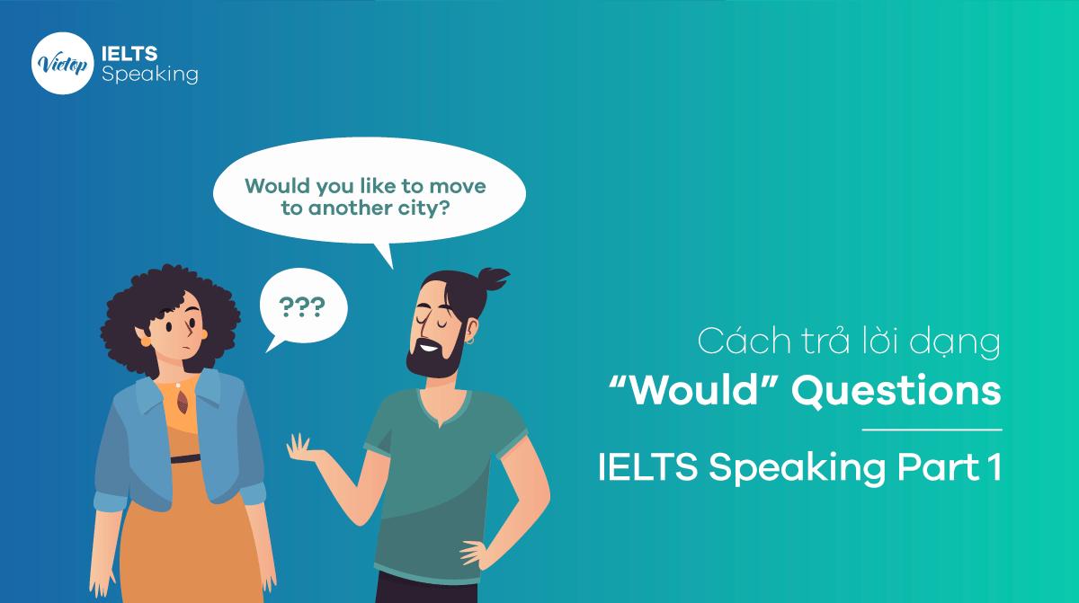 """Cách trả lời dạng """"Would"""" Questions – IELTS Speaking Part 1"""