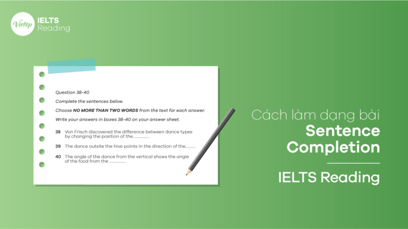 Cách viết dạng Sentence Completion - IELTS Reading