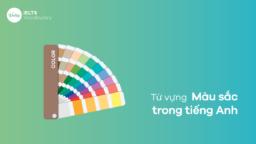 Tổng hợp từ vựng màu sắc trong tiếng Anh đầy đủ