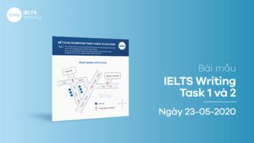 Bài mẫu IELTS Writing Task 1 và 2 ngày 23/05/2020