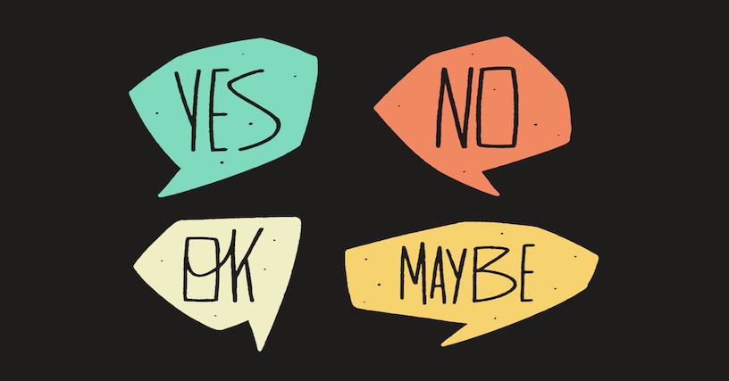 Bạn không nhất thiết phải trả lời Yes hoặc No ở câu hỏi Yes/No question