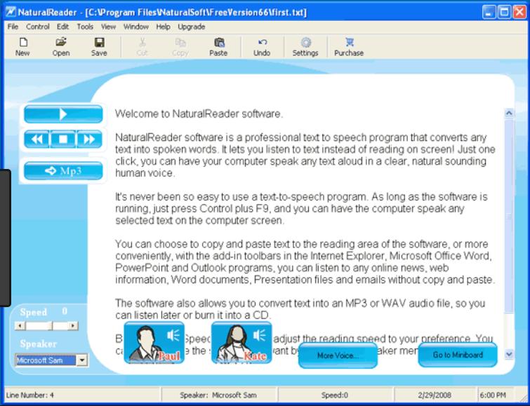 Phần mềm phát âm tiếng Anh Free NaturalReader