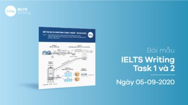 Bài mẫu IELTS Writing Task 1 và 2 ngày 05-09-2020
