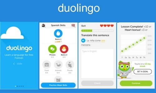Phần mềm học tiếng An Doulingo