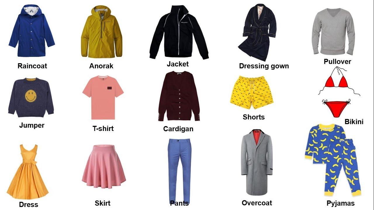 Từ vựng tiếng Anh về quần áo