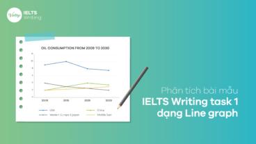 Phân tích bài mẫu IELTS Writing task 1 dạng Line graph