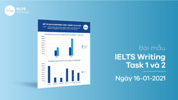 Bài mẫu IELTS Writing Task 1 và 2 ngày 16-01-2021