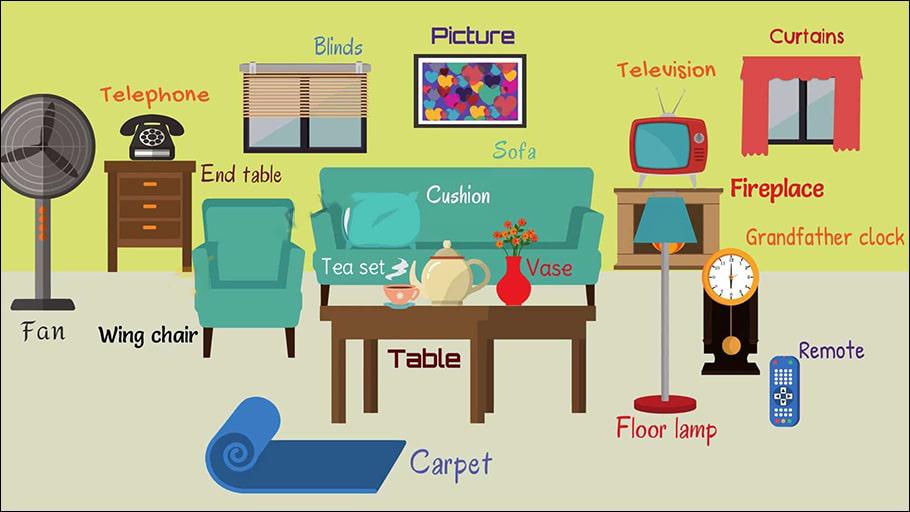 Từ vựng tiếng Anh về chủ đề phòng khách