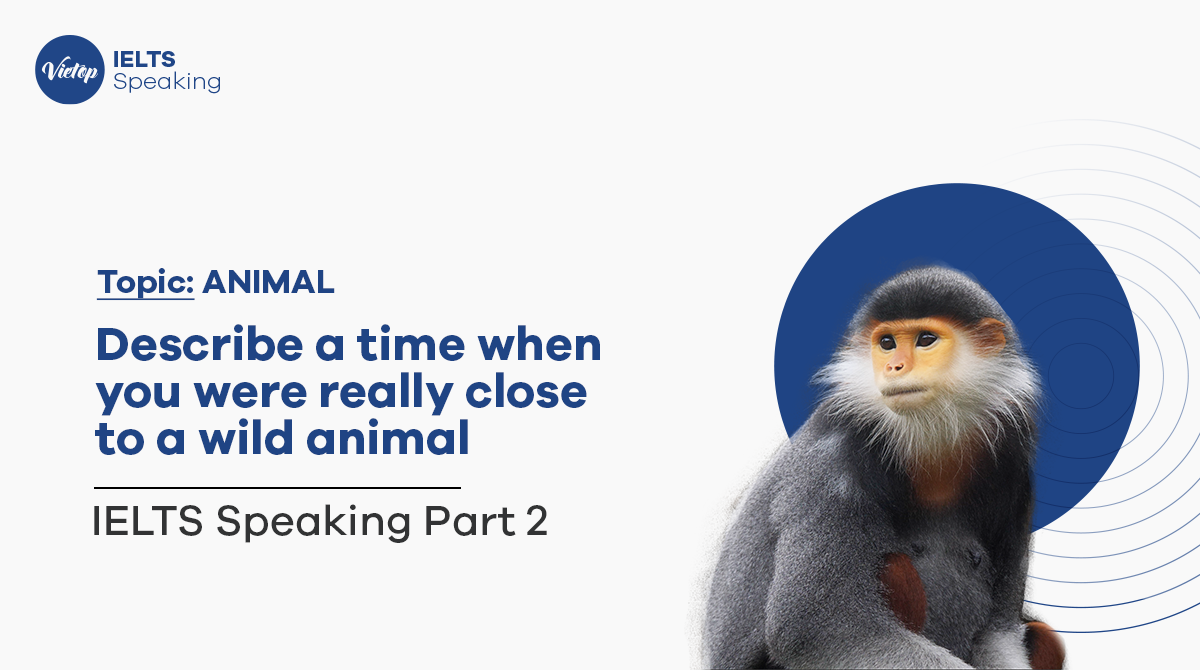 Describe a time when you were really close to a wild animal - IELTS Speaking part 2