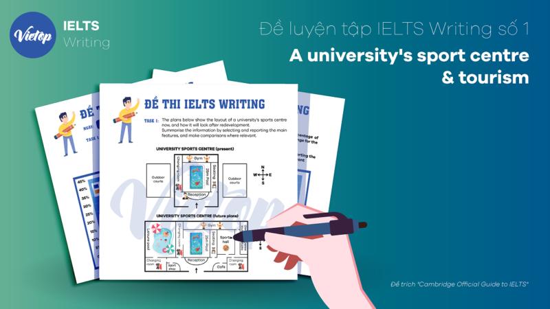Đề luyện tập IELTS Writing số 1: A university's sport centre & tourism