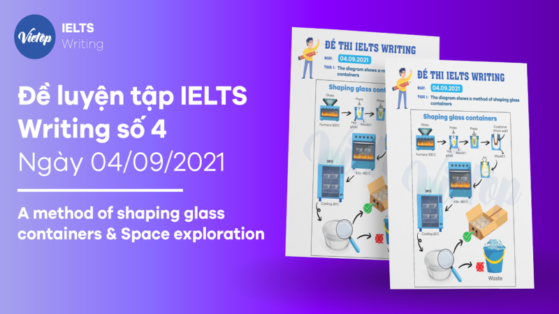 Đề luyện tập IELTS Writing số 4: A method of shaping glass containers & Space exploration
