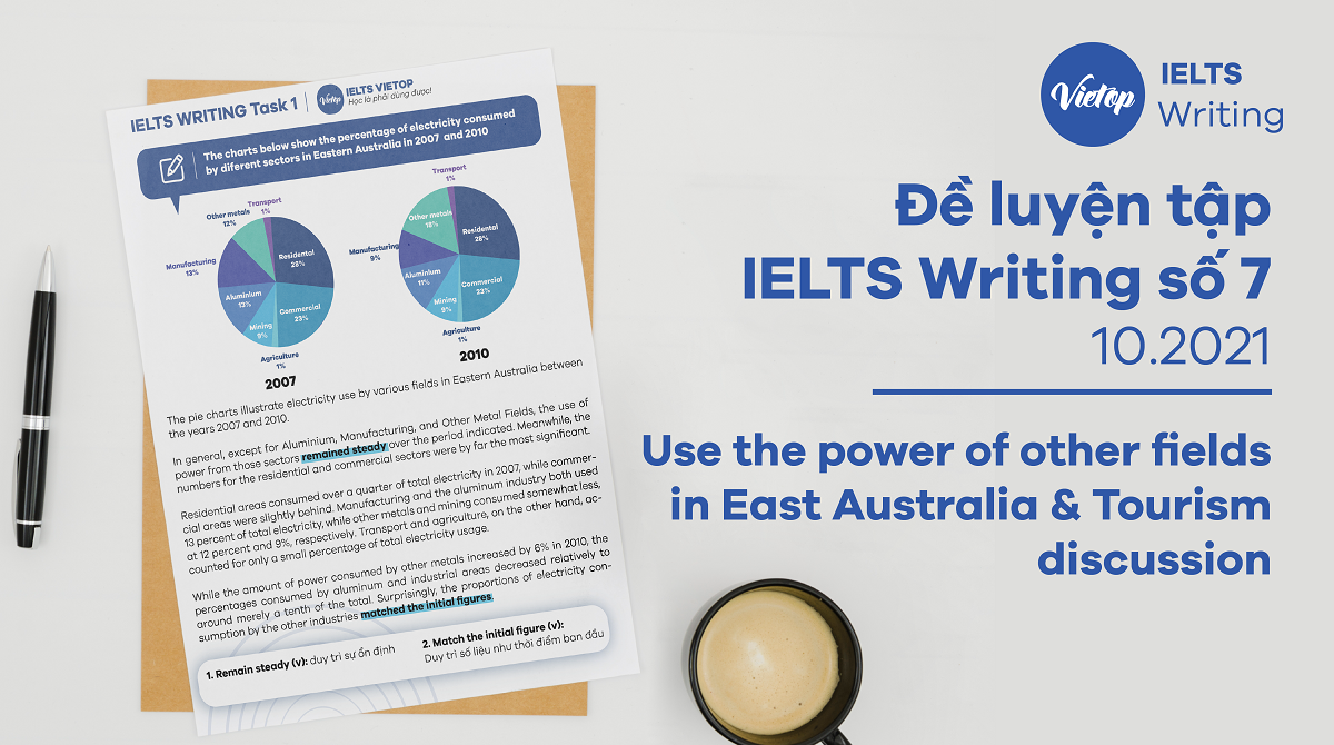 Đề luyện tập IELTS Writing số 7: Use the power of other fields in East Australia & Tourism discussion
